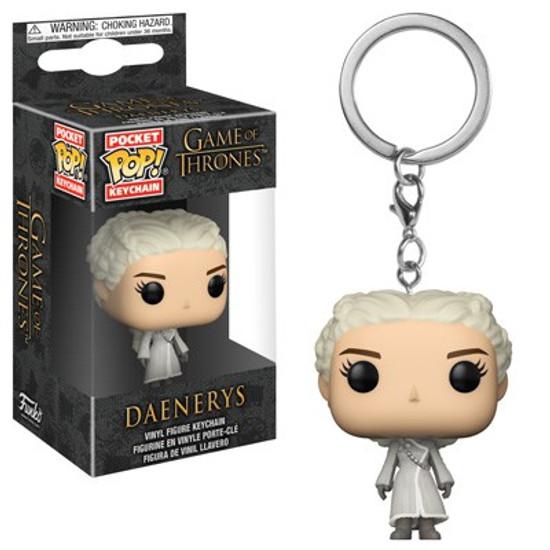 Funko Game of Thrones Pocket POP! TV Daenerys Targaryen Keychain [White Coat]