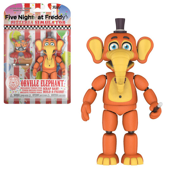 Funko Five Nights at Freddy's Pizzeria Simulator Orville Elephant Action Figure [Scrap Baby Part]