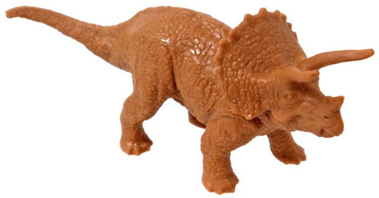 Jurassic World Matchbox Battle Damage Mini Dinosaur Figure Triceratops 2-Inch Mini Figure [Loose]