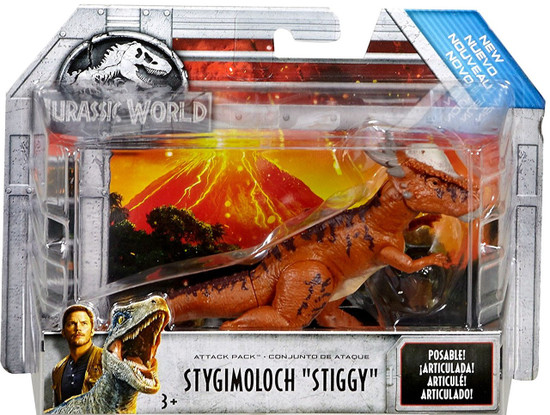 "Jurassic World Fallen Kingdom Attack Pack Stygimoloch ""Stiggy"" Action Figure"
