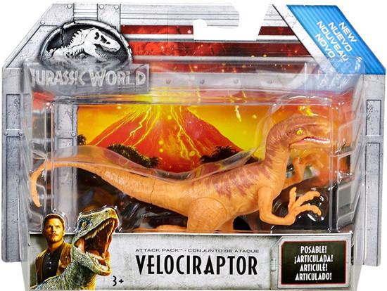 Jurassic World Fallen Kingdom Attack Pack Velociraptor Action Figure [Orange]