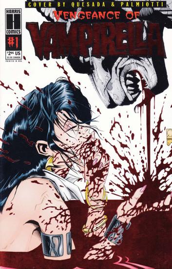 Harris Comics Vengeance of Vampirella #1 Comic Book [Red Wrap-around Foil Cover]