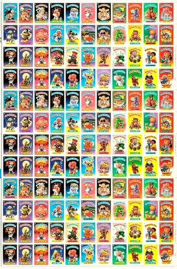 Garbage Pail Kids Topps Original 1980's Series 1 Uncut Sheet [Very Rare]