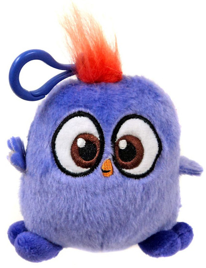 Angry Birds Hatchlings Purple 4-Inch Plush Clip On