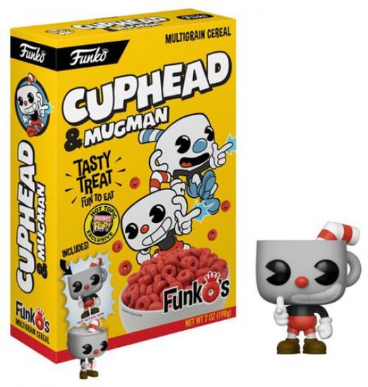 FunkO's Cuphead Exclusive 7 Ounce Breakfast Cereal [Yellow Box, Cuphead & Mugman]