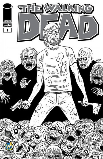 Image Comics The Walking Dead #1 Comic Book [Wizard World Vegas 2015 B & W Variant Cover]