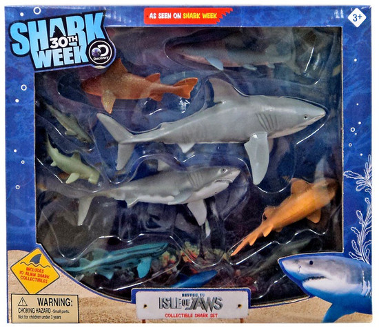 Discovery Shark Week 30th Return to Isle of Jaws Collectible Figure 10-Pack