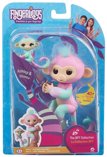 Fingerlings Baby Monkey Ashley & Chance Figure [The BFF Collection]