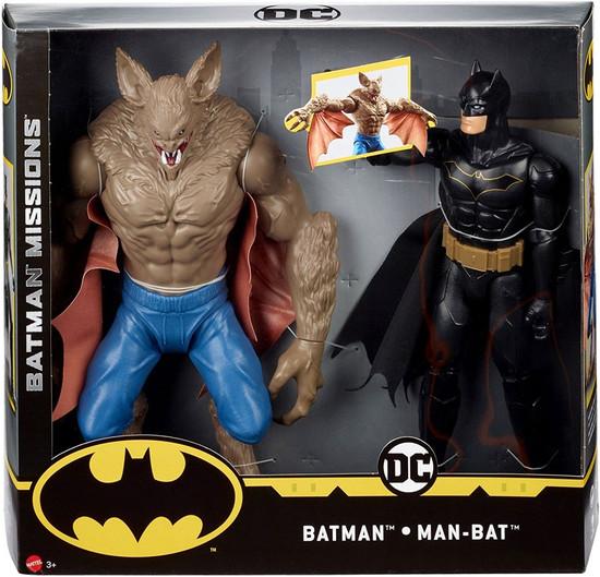 DC Batman Missions Batman vs Man-Bat Action Figure 2-Pack [True Moves]