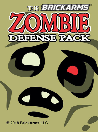 BrickArms Zombie Defense Pack 2018 2.5-Inch Weapons Pack