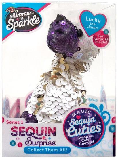 Shimmer 'n Sparkle Magic Sequin Cuties Sequin Surprise Series 1 Lucky the Llama Mini Plush