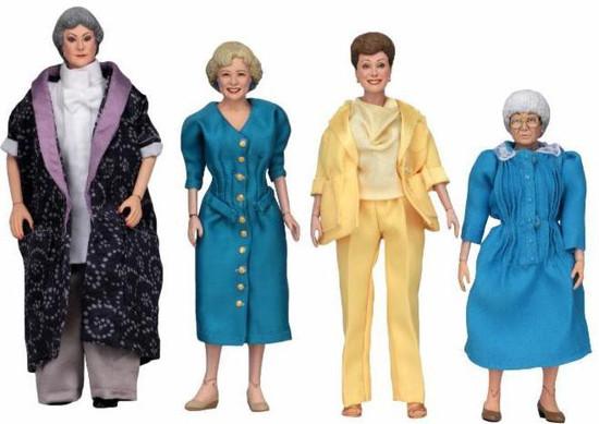 NECA Golden Girls Dorothy, Rose, Blanche & Sophia Set of 4 Clothed Action Figures