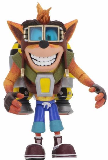 NECA Crash Bandicoot Crash Deluxe Action Figure [with Jet Pack]