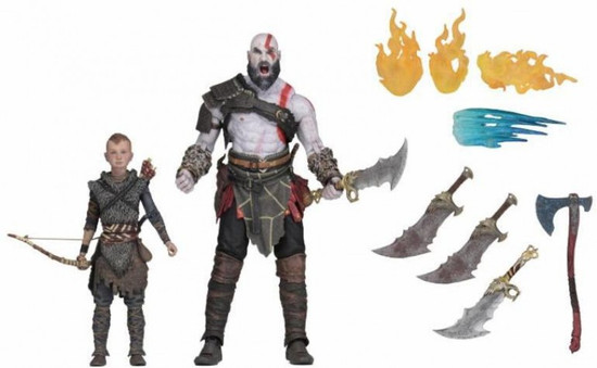 NECA God of War Kratos & Atreus Action Figure 2-Pack [Ultimate Versions]