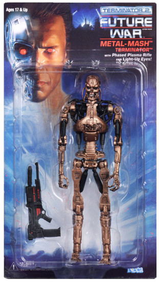NECA Terminator 2 Judgment Day Kenner Tribute Metal Mash Endoskeleton Action Figure