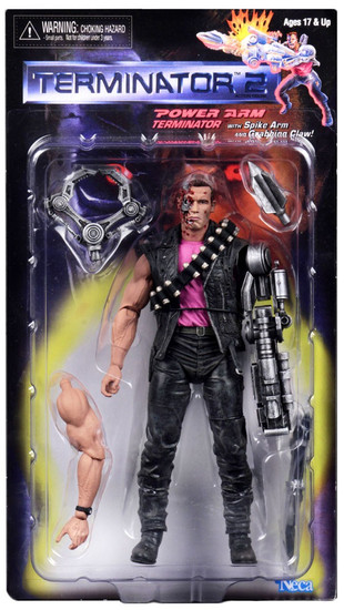 NECA Terminator 2 Judgment Day Kenner Tribute Power Arm T-800 Action Figure