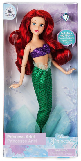 Disney Princess The Little Mermaid Classic Ariel Exclusive 11.5-Inch Doll [with Ring]