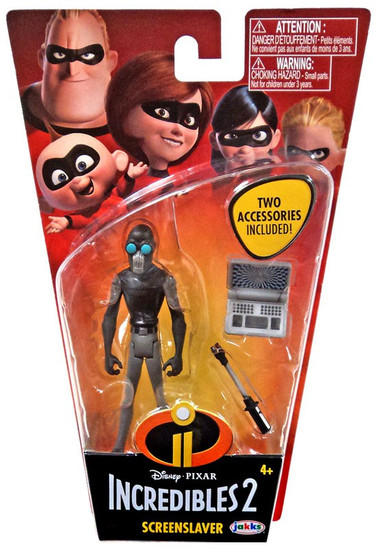 Disney / Pixar Incredibles 2 Super Poseable Series 2 Screenslaver Basic Action Figure