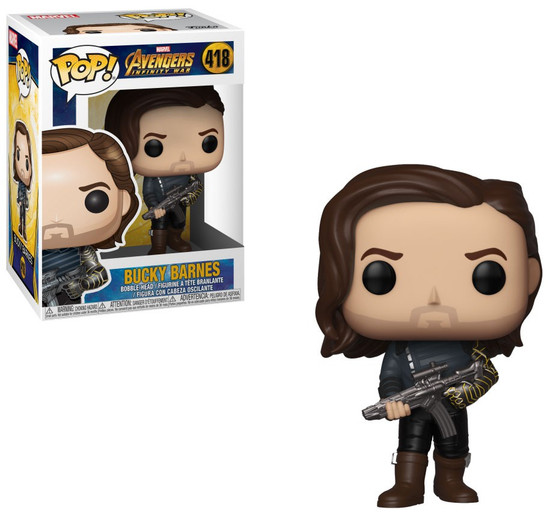 Funko Avengers Infinity War POP! Marvel Bucky Vinyl Bobble Head #418 [with Weapon]
