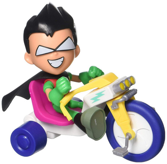 Teen Titans Go! Movie Face-Swappers Robin & Time Cycle Action Figure & Vehicle
