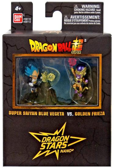 Dragon Ball Super Dragon Stars Nano Super Saiyan Blue Vegeta Vs. Golden Frieza 1.5-Inch Mini Figure 2-Pack