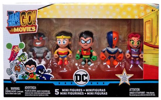 Teen Titans Go! Movie Cyborg, Wonder Woman, Robin, Slade & Starfire Mini Figure 5-Pack