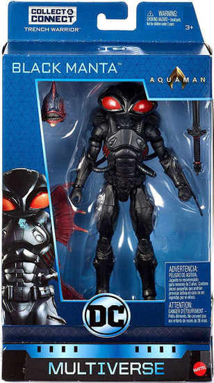 DC Aquaman Multiverse Trench Warrior Series Black Manta Action Figure