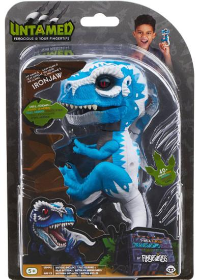 Fingerlings Untamed Dinosaur Ironjaw the T-Rex Figure [Blue & White]