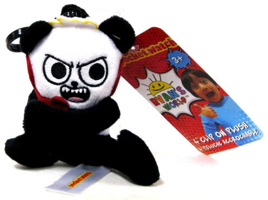 Ryan's World Combo Panda 4-Inch Clip On Plush