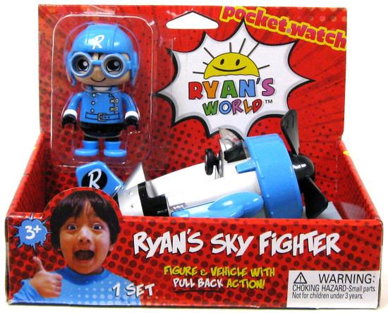 Ryan's World Sky Fighter 3-Inch Figure & Vehicle