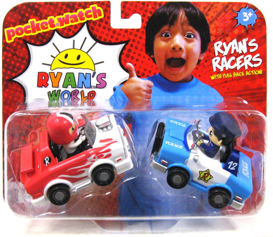 Ryan's World Police Car & Hot Rod 2-Inch Racers 2-Pack