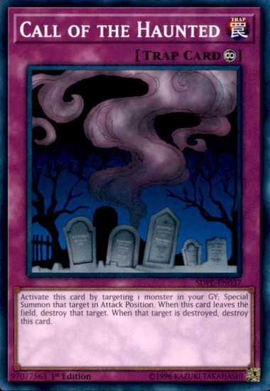 YuGiOh Powercode Link Structure Deck Common Call of the Haunted SDPL-EN037