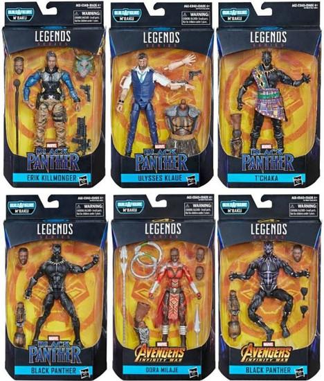 Black Panther Marvel Legends M'Baku Series Set of 6 Action Figures
