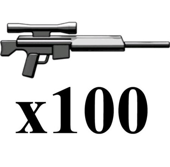 BrickArms Lot of 100 PSR Precision Sniper Rifle 2.5-Inch [Gunmetal]