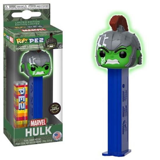 Funko Marvel POP! PEZ Hulk Candy Dispenser [Glow-in-the-Dark, Chase Version]