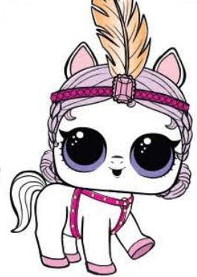 LOL Surprise Series 4 Eye Spy Pets Showpony Popular Figure [Includes All Accessories Loose]