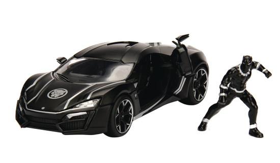 Marvel Black Panther & Lykan Hypersport Diecast Vehicle & Action Figure