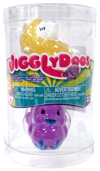 JigglyDoos Series 2 Yellow Sheep & Purple Turkey Squeeze Toy 2-Pack