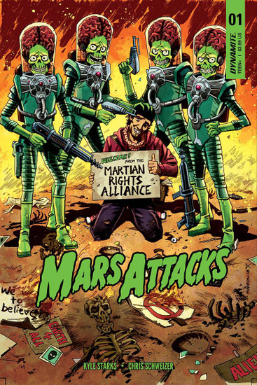 Dynamite Entertainment Mars Attacks #1 Comic Book [Cover C Marron Variant]