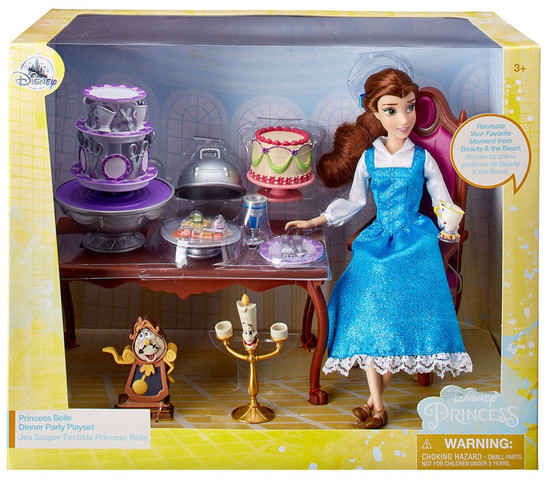 Disney Princess Beauty and the Beast Princess Belle Dinner Party Exclusive Playset