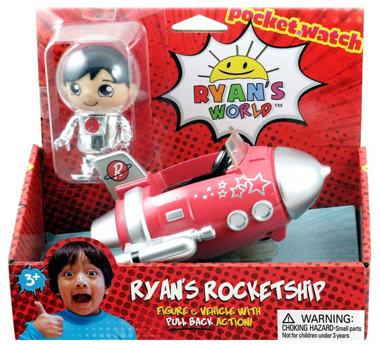 Ryan's World Ryan's Rocket Ship 3-Inch Figure & Vehicle