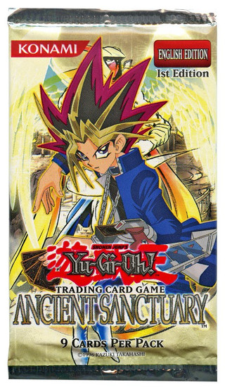 YuGiOh Trading Card Game Ancient Sanctuary (1st Edition) Booster Pack [9 Cards]