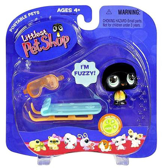 Littlest Pet Shop Portable Pets Penguin Figure #333 [With Sled, Loose]