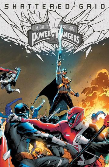 Boom Studios Mighty Morphin Power Rangers #1 Shattered Grid Comic Book [Holofoil Hairsine Variant Cover]