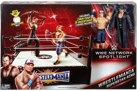 WWE Wrestling Network Spotlight WrestleMania Exclusive Superstar Ring [John Cena & Undertaker, Damaged Package]