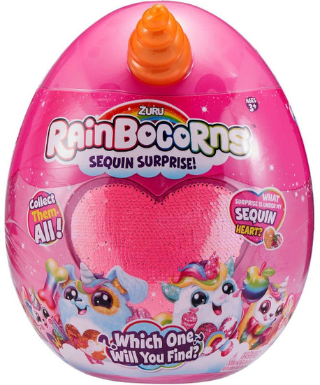 Series 1 Rainbocorns Surprise Mystery Egg Plush [RANDOM Color Plush, Sequins & Animal!]