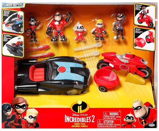 Disney / Pixar Incredibles 2 Junior Supers Family Pack Exclusive 3-Inch Playset
