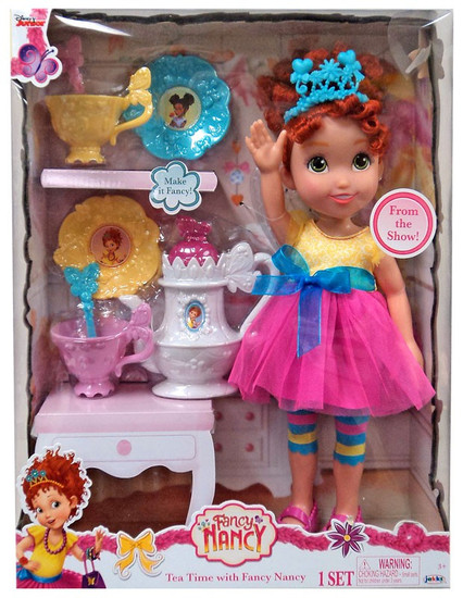 Disney Junior Tea Time with Fancy Nancy Exclusive Doll [Bonus 8-Piece Tea Set!]