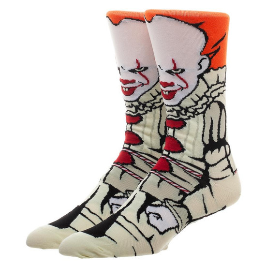 IT Movie (2017) Pennywise 360 Character Crew Socks
