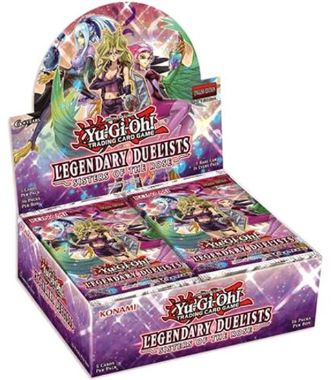 YuGiOh Trading Card Game Legendary Duelists Sisters of the Rose Booster Box [36 Packs]